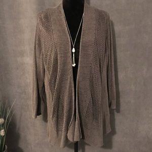 Alfani Green/Grey Cardigan Sweater, Size 3X